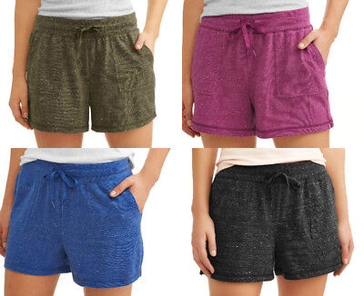 Athletic Works Womens Stretchy Athleisure Shorts Pockets Drawstring S M L XL XXL