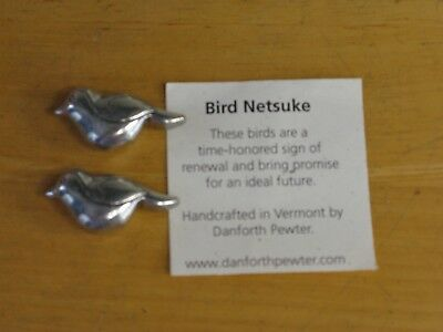 Danforth Pewter Bird Netsuke