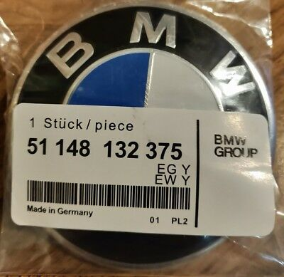 Bmw 82mm Badge Front Rear Bonnet Boot Logo Badge Emblem 1