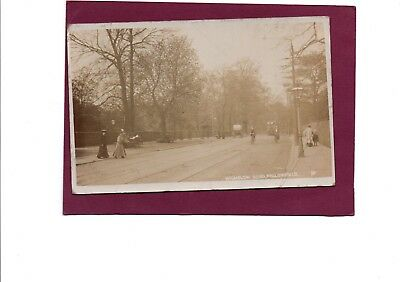 Real Photo Postcard Wilmslow Road Fallowfield Lancashire posted 1906