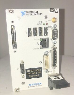 National Instruments NI PXI-8108 Embedded Controller, Win 7 198410G-712L