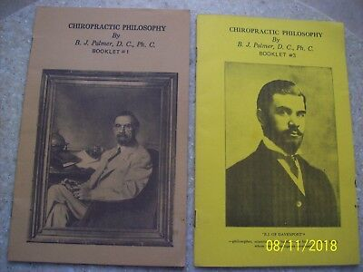(1} Lot of (2) Chiropractic Philosophy-Pamphlets- B.J Palmer Booklet #1&#3.