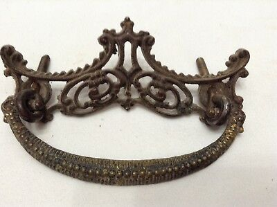 2 BRASS VINTAGE VICTORIAN ORNATE DRAWER PULLs  Drawer Handles  Handle Pull
