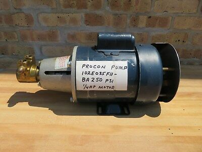 Procon 1/4 HP Water Circulator Pump Leeson Motor 115 / 230 V Single Phase