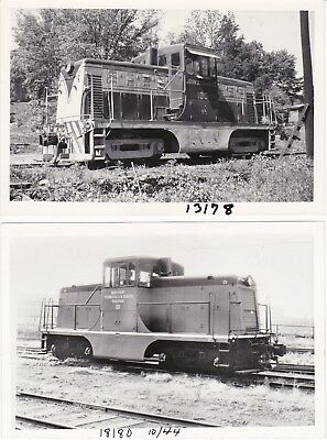 "General Electric 44-Ton Switcher Locomotives Two 4"" x 6"" Vintage Photos"