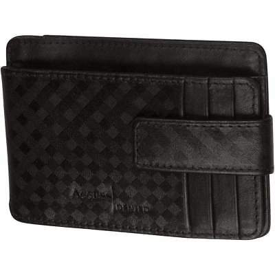 New Genuine Leather Mens Card Holder Money Clip With ID Window RFID Blocking
