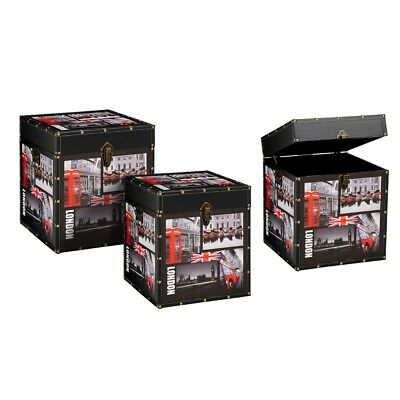 Capital London Storage Trunk Side Table Set of 3