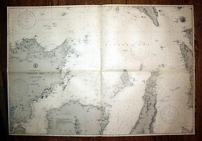 1940 Philippine Islands Visayan Sea Philippinen Panay map Karte Plan chart plan