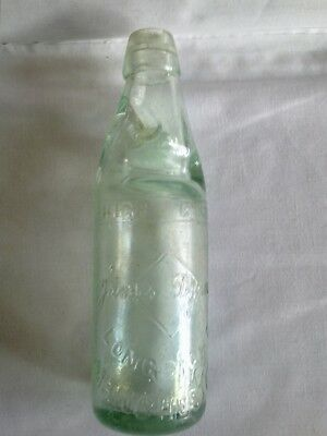 Lovely Antique Clear Glass Codd Old Bottle James Dyson Longsight Manchester