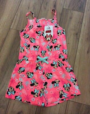 Brand New Girls Minnie Mouse Playsuit Size 5-6 Years
