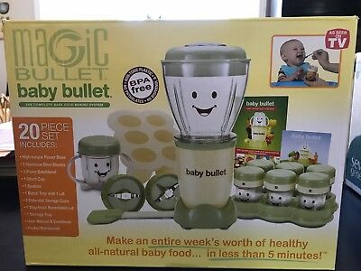 NIP Magic Bullet Baby Bullet 20 piece set complete baby care system