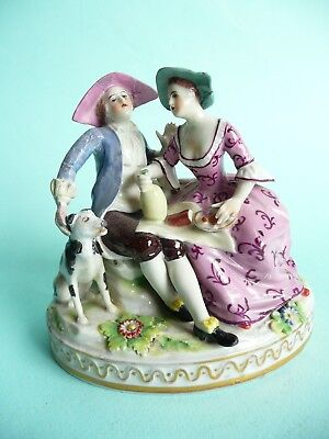 19th century continental porcelain figure group a/f.....................ref.1144