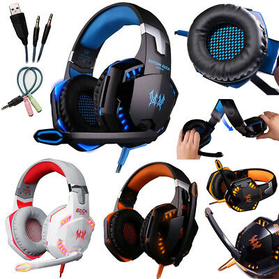 G2000 Stereo Gaming Headset for PS4 Xbox One Bass Over-Ear Headphones With Mic