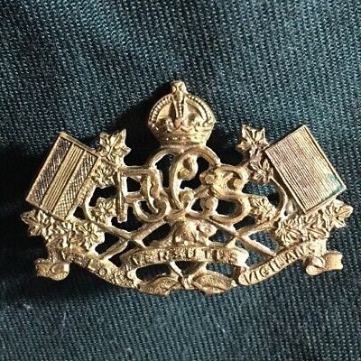 WWII ROYAL CANADIAN CORPS SIGNALS collar dog badge brass RCCS WW2 Canada R.C.C.S