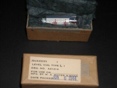 Vintage Moyer Level Vial Type L 1 1944 unopened original packging new old stock