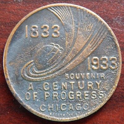 1933 Century Of Progress Chicago Souvenir With 7 Venue Reverse Greenduck Co Chi!