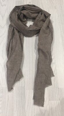Ladies Handmade 100% Cashmere Pashmina Scraf In Grey Made In Nepal