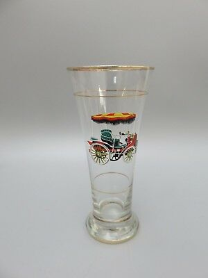 Vintage Retro 1950S Large Highball Tumblers With Daimler Car Motifs