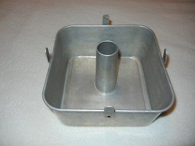 Vintage COMET 2 pc SQUARE 9 x 9 x 4 ALUMINUM ANGEL FOOD CAKE PAN USA