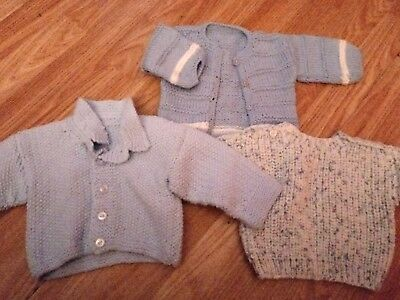 4fb503c27ab5 HAND KNITTED BABY cardigans bundle 0-3months - £3.65