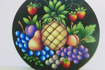 """Rosemary West tole painting pattern """"Fruit in the Round"""""""