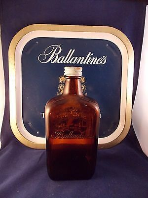 Ballantine's Superb Scotch Whiskey Tray And Empty Bottle