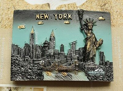 Statue of Liberity New York City USA Reiseandenken 3D Kühlschrankmagnet Magnet