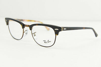 Ray-Ban clubmaster eyeglasses frame RB 5154 5650 49-21 140 Havana Brown text