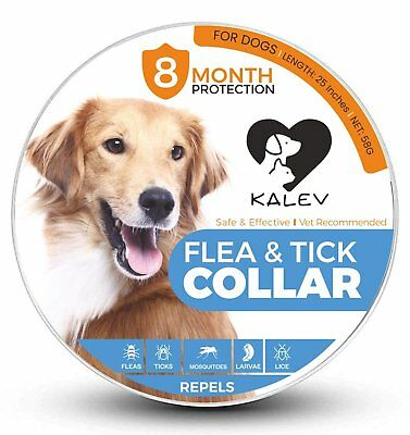 Flea And Tick Collar For Dogs - Vet Recommended 8 Month Protection Large/Small