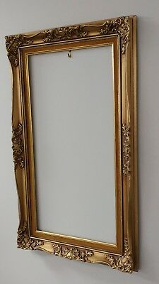 Antique Parisienne Gold Ornate Painted Picture Frame 2921