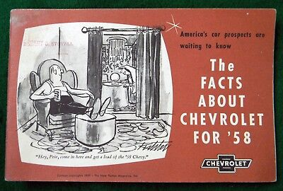 Vintage 1958 Chevrolet Dealer Salesman Facts Book