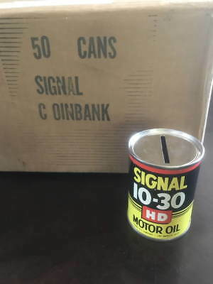 vintage Signal Motor oil Can BANK dates from 1956 new old stock