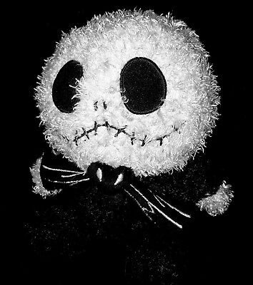 """Official Disney Theme Park Baby Jack Skellington 7"""" Plush In Great Condition"""