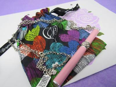 brighton PINK  INTERCHANGEABLE CHARM PEN NECKLACE  NWT  $64 WITH POUCH