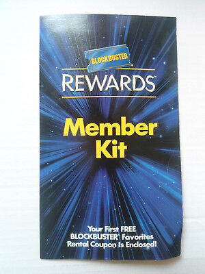 Blockbuster Rewards Member Kit Expired Rental Coupon 2002 Rare HTF Video Store