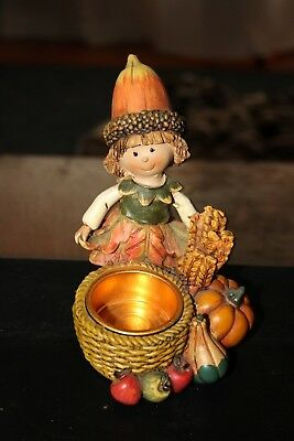 Yankee Candle Nut Baby tealight Holder Fall Thanksgiving Pumpkin Acorn