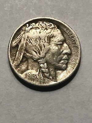 1913 Type I Buffalo Nickel Full Horn Great Detail Nice For Your Collection