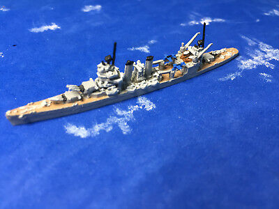 1/2400 scale of GHQ's model of the WWII USS New Orleans CA (heavy cruiser)