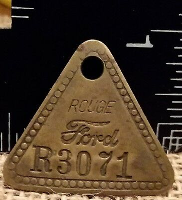 Ford Motor Co Dearborn Michigan Rouge Plant Tool Check Chit Tag 50s & Die R3071