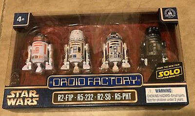 Star Wars Droid Factory Solo set of 4 NEW Disney Park Exclusuve Clone Wars NEW
