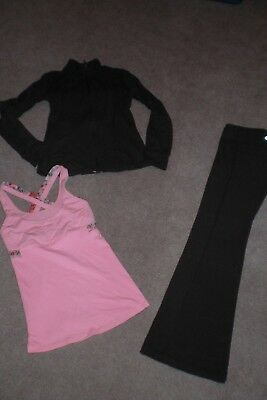 Lot of Lululemon Luon Groove Pants, Define Jacket and Rare Tank sz 4