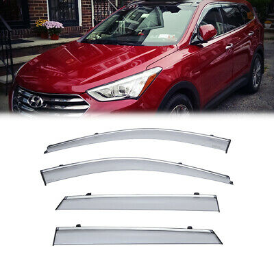 Visor Wind Deflector 4pcs Rain Guard Fit 07-12 2007-2012 Hyundai Santa Fe SE GLS