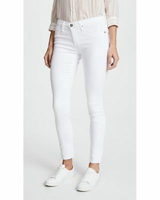 AG adriano goldschmied Jeans Women's White Legging Ankle Jean In White Size 28