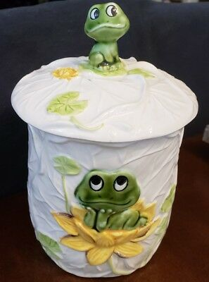 Vintage Sears, Neil the frog, canister/cookie jar