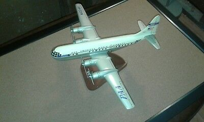 Pan American Boeing B-377 Stratocruiser Model Scale 1/100 Brown Base Assembled