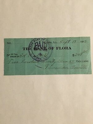 Antique Bank Checks blue in color with clear printing. Good condition
