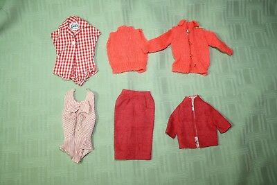 Vintage Lot of Old Barbie Clothes Accessories Nice Played With Condition Doll  .
