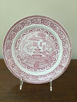 J & M P Bell & Co PEKIN Chinese Red Transfer Plate c. 1889