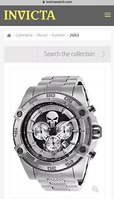 Invicta Marvel 52mm Limited Edition PUNISHER Mens Watch