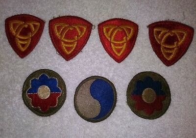 Vintage Army World War 2 uniform Patches (7)